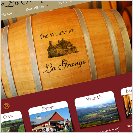 Virginia Winery, The Winery at La Grange — Website Design Success